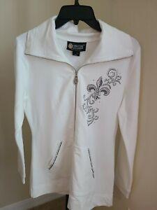 Christine Alexander  with Swarovski Crystals Jacket Full Zip, Size Snall