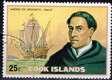 Cook Islands Famous Spanish Basque Explorer Urdaneta and his Ship stamp 1967