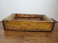 VIntage Coca-Cola Yellow Wood Crate Carrier