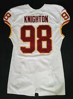 #98 Terrance Knighton of Washington Redskins NFL Game Issued & Worn Jersey