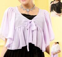 New womens poncho top blouse cardigan dress jacket AU size 10 12 14 16 18 #1169