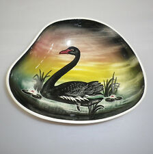LITTLE SYDNEY POTTERY BOWL DECORATED WITH A BLACK SWAN.