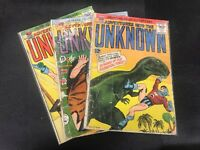 Adventure Into The Unknown 155 , 158 And ?? Ungraded Lot Of Three Books
