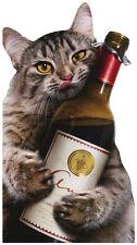 Cat Wine Bottle - Avanti Oversized Funny Birthday Card by Avanti Press