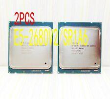 2X Intel Xeon E5-2680 v2 (SL1A6) 2.8-3.6GHz / 25M / Ten nuclear /2011 server CPU