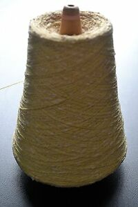 2 ply cone Cotton Knop - Soft Yellow/White - 485gm