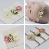 3pcs Bandeau Cheveux Serre-tête Turban Fleur Mariage Fête Pour Fille Enfant Bébé