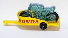 HONDA MOTORCYCLE & TRAILER ~ Matchbox Lesney 38 C3 ~ Made in England in 1967