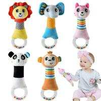 Baby Ring Bell Newborn Hand Shake Rattles Grasp Plush Toys Soft Infant Crib Doll