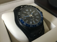 Tag Heuer Men WAZ201A.FC8195 Formula1 David Guetta Automatic Black Leather Watch
