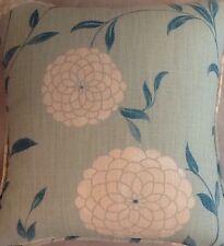 A 16 inch cushion cover In laura ashley Erin Sea Green fabric