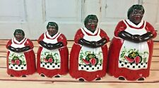 Rare Black Americana Mammy Cookie Jar And Canister Set - Memories Of Mama