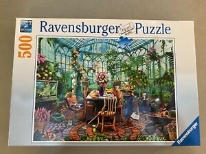 """Ravensburger Jigsaw Puzzle 500 pieces """"In the Greenhouse"""" Excellent ~ COMPLETE!"""