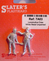 Slaters 7A03 - 7mm - White Metal Locomotive Crew Un-Painted - UK 1st Class Post