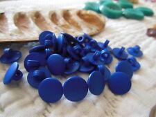 lot 30 mini boutons bleu  à pied fond d'atelier 1 cm couture ref 1317