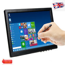 10 Inch HD IPS POS Touch Screen Color CCTV Monitor HDMI/VGA/USB Speaker UK STOCK