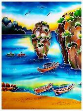 Handmade batik painting for decoration original from Phuket, Thailand!