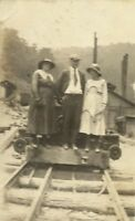 Stone Kentucky Coal Mining Camp Town Mine Railway Antique Photo