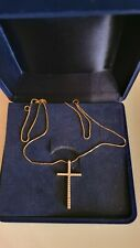 Goldkette 18K /750 GG mit Kreuz mit 30 Brillanten
