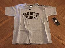 San Diego Padres Nike Kids Size 4 Gray T-Shirt NWT