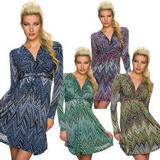 Damenkleider aus Polyester mit geometrischem Muster