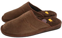 Natural Calf Leather And Sheep's Wool Black Brown Mens Slipper Shoes Mule