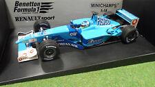 F1 BENETTON RENAULT SP 2001 B201 formule 1 FISICHELLA 1/18 MINICHAMPS 100010007