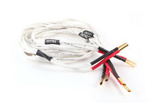 BLACK RHODIUM TWIRL SPEAKER CABLE | 3 METRE STEREO PAIR | GOLD PLATED Z-PLUGS