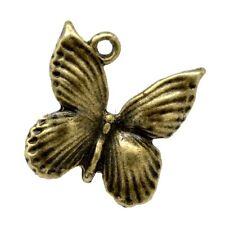 5 mariposa encanto Colgantes De Bronce Antigua De Tono