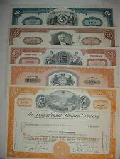 Lot of 5 Different Railroad Stock Certificates Pennsylvania Erie Monopoly RR