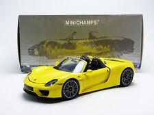 Minichamps 2013 Porsche 918 Spyder Version production Yellow 1/18 New! In Stock!
