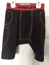 Rawlings Boys Black & Red Baseball Shorts Sliders: Youth Medium