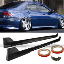 Fit 01-05 IS300 XE10 TR-D Style Urethane Pair Side Skirt Sideskirt Lip BodyKit
