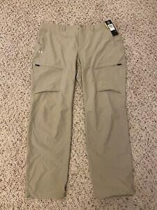 Under Armour Men's UA Canyon Cargo Pants 1352692 299 Khaki Tan  42 x 34 NWT $90