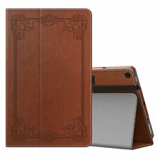 MoKo Case Fits Fire 7 2017 Vintage Style Brown