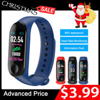 BT4.0 Smart Watch Band Heart Rate Blood Pressure Monitor Tracker Sport Wristband