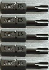 DEWALT DT7962 T25 TORX 25 SCREWDRIVER BITS X 5 25mm