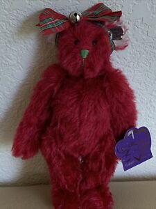 "Annette Funicello Collectible Bear 9"" Tall ""Merry Mistletoe ""Mohair"