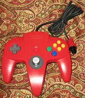 Nintendo 64 Red Controller NUS-005 Authentic OEM N64 Tested Tight Stick NES