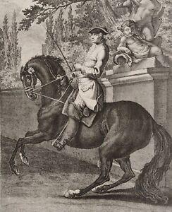 Johann Elias RIDINGER - Die Parade im Schritt links