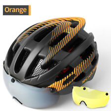 Ultralight Bicycle Helmet Adjustable Bike Cycling Helmets with Lens & Tail light