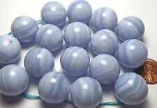 1 pc BLUE LACE AGATE AAA NATURAL 20mm Round Bead