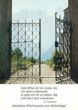 GERMAN RELIGIOUS NEW YEAR GREETINGS POSTCARD - GOD GOES WITH YOU EVERY DAY