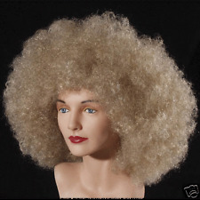 BLONDE AFRO WIG UNISEX DELUXE JUMBO WIG COSTUME HALLOWEEN DRESS UP PROP