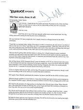 Frank Mir Signed UFC 81 2008 Press Kit Article BAS Beckett COA vs Brock Lesner