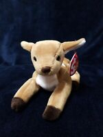Ty Beanie Baby Whisper the Deer Fawn, Brand New Mint Pristine Clean, w/Mint Tags