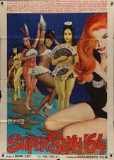 SUPERSEXY '64 Italian 2F movie poster 39x55 MONDO DOCUMENTARY SEXPLOITATION 1963