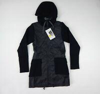 Icebreaker Merinoloft Black Merino Wool Departure Jacket Women's sz XS
