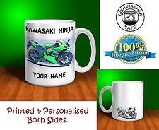 Kawasaki Ninja Motorbike Personalised Ceramic Mug Gift (MB001)
