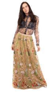 Marina Rinaldi Floral  Embroidered Woman's Skirt New,Zs US14/UK18